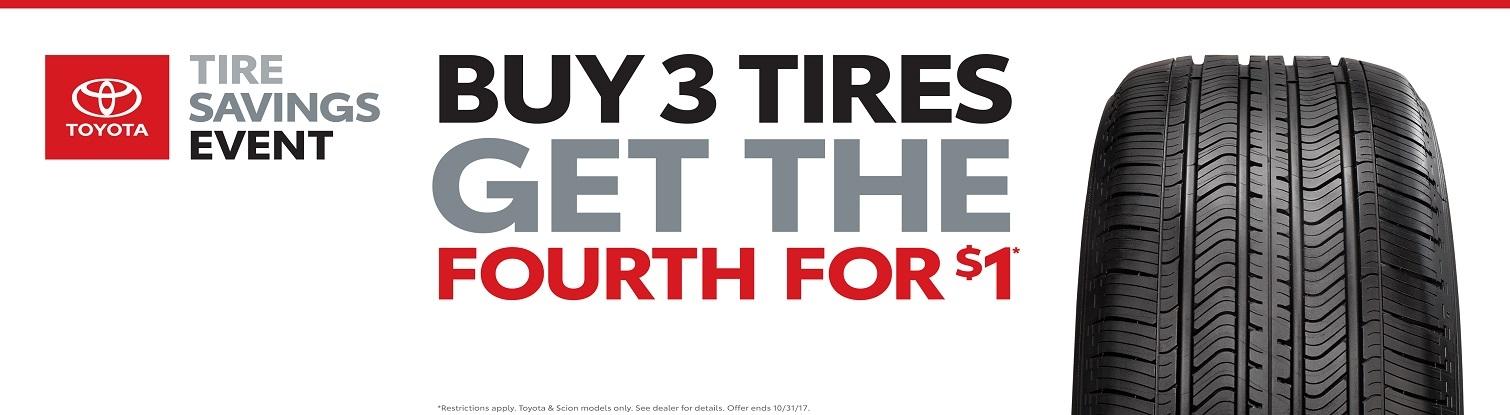 Pedersen Toyota Tire Savings Event