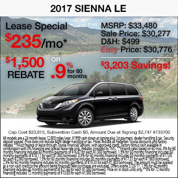 2017 Toyota Sienna Special