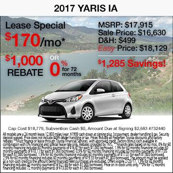 2017 Toyota Yaris iA Special