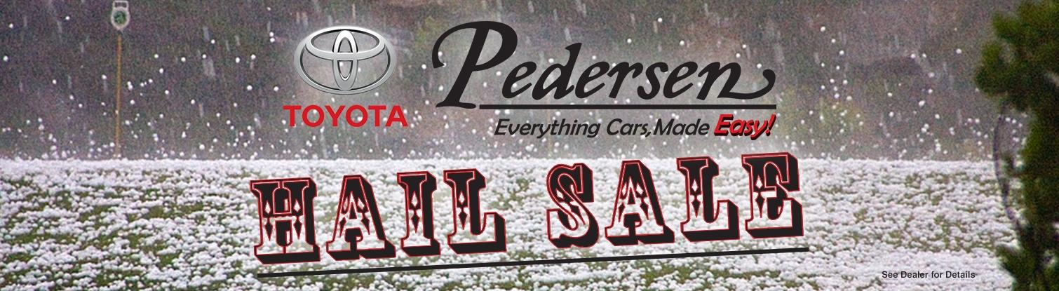 Pedersen Toyota Hail Sale