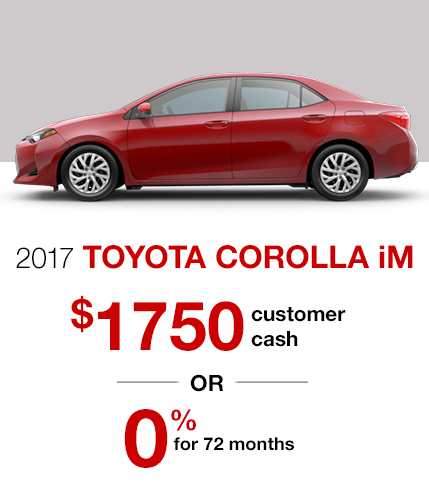 2017 Toyota Corolla iM Special