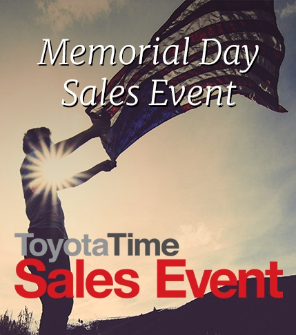 Toyota Memorial Day Sales Event