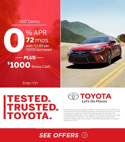 July Tested Trusted Toyota Camry