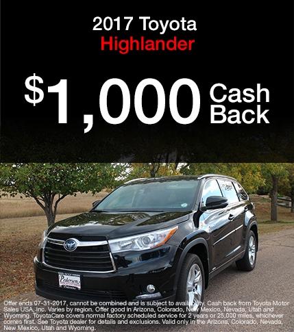 2017 Toyota Highlander Special