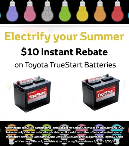 Toyota TrueStart Battery Rebate