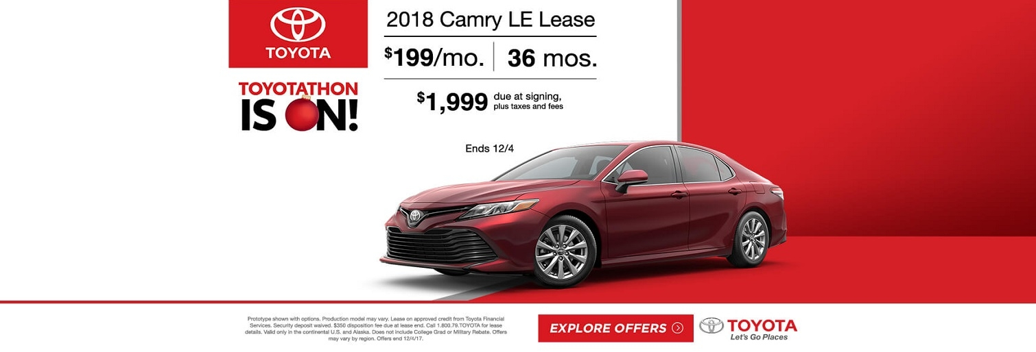 Toyotathon 2018 Camry Lease