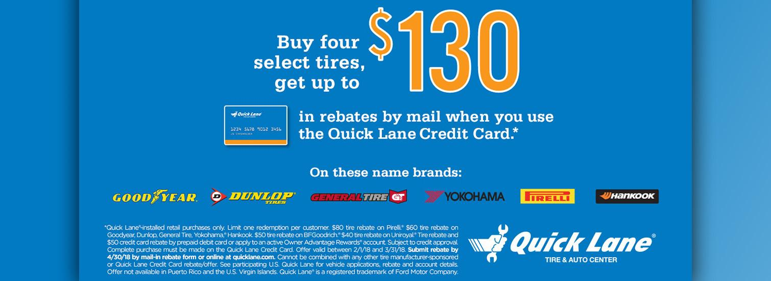 $130 Off Select Tires