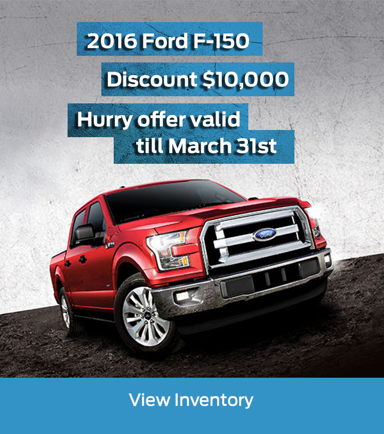 March offer 2016 F-150
