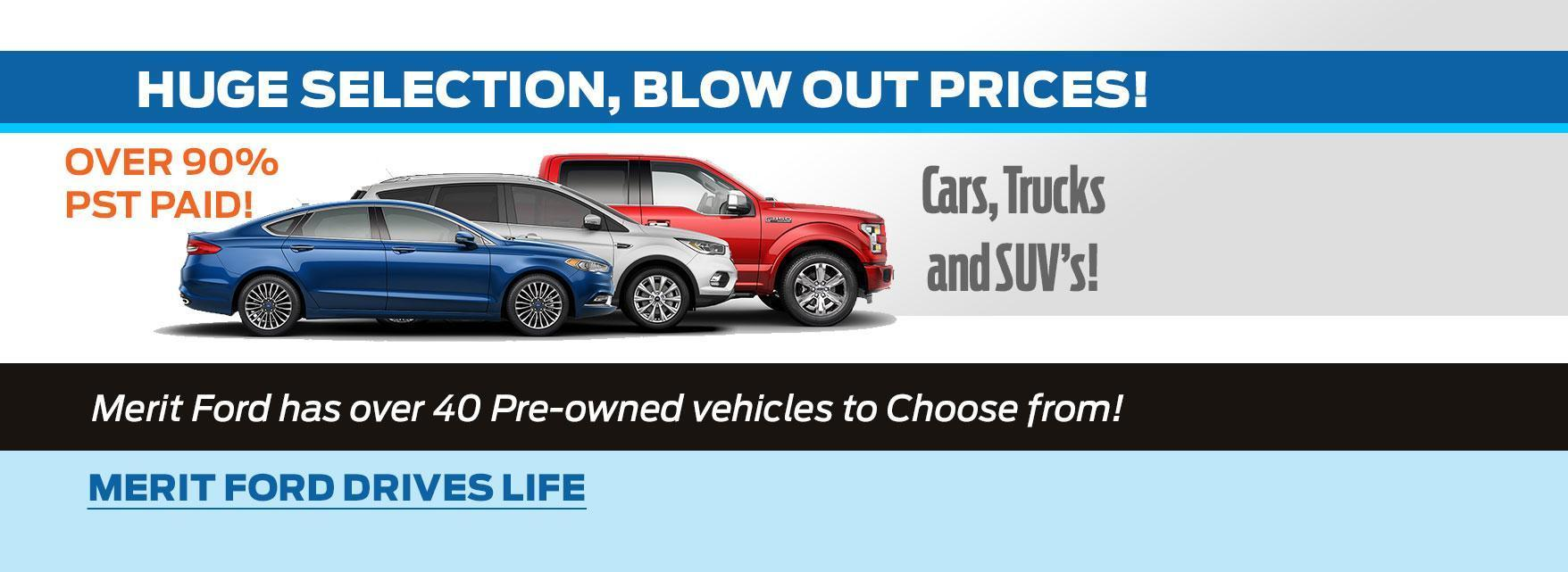 Blow out prices for used inventory