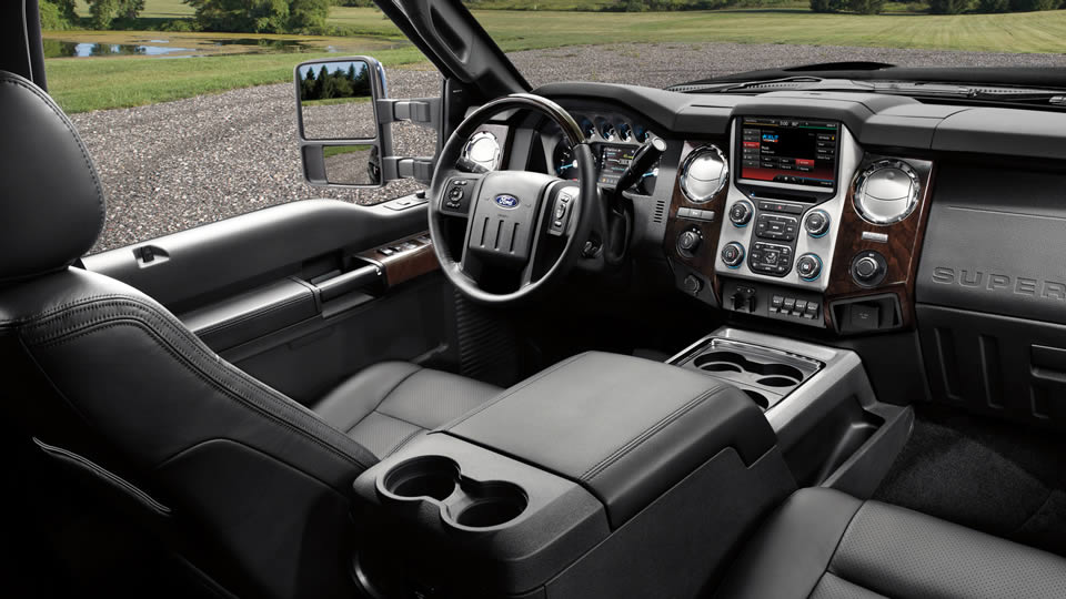 2016 Super Duty Platinum interior in Charcoal Black