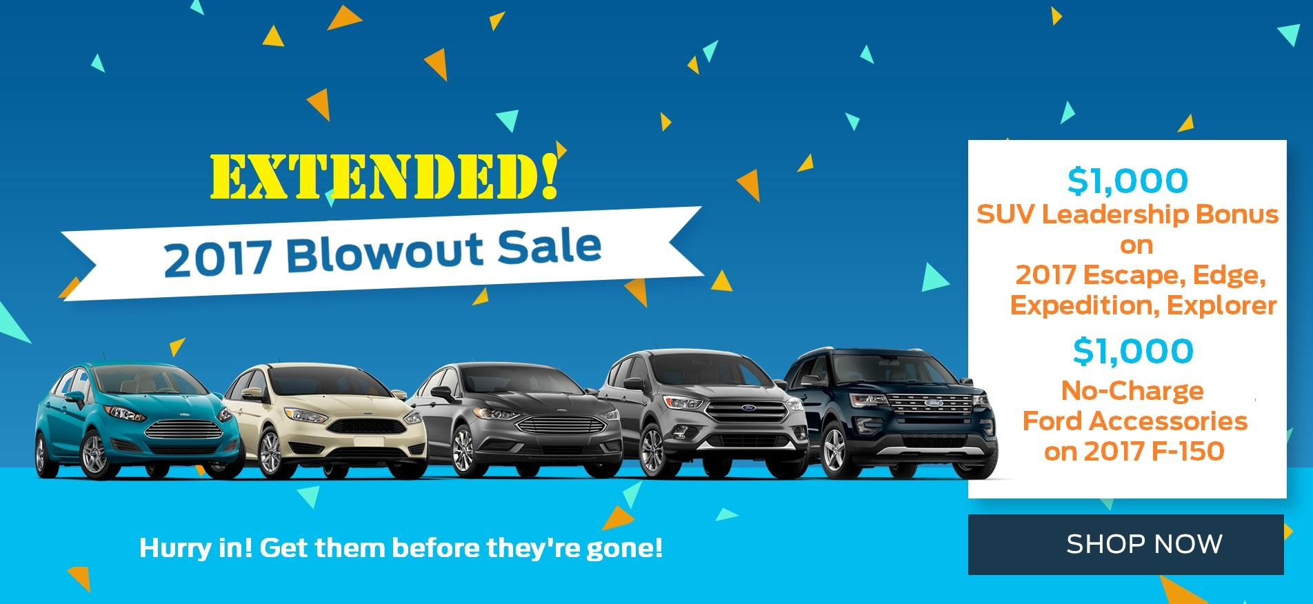 2017 Clearance Extended at Merlin Ford Saskatoon