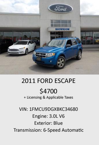 2011 Ford Escape 3.0L V6