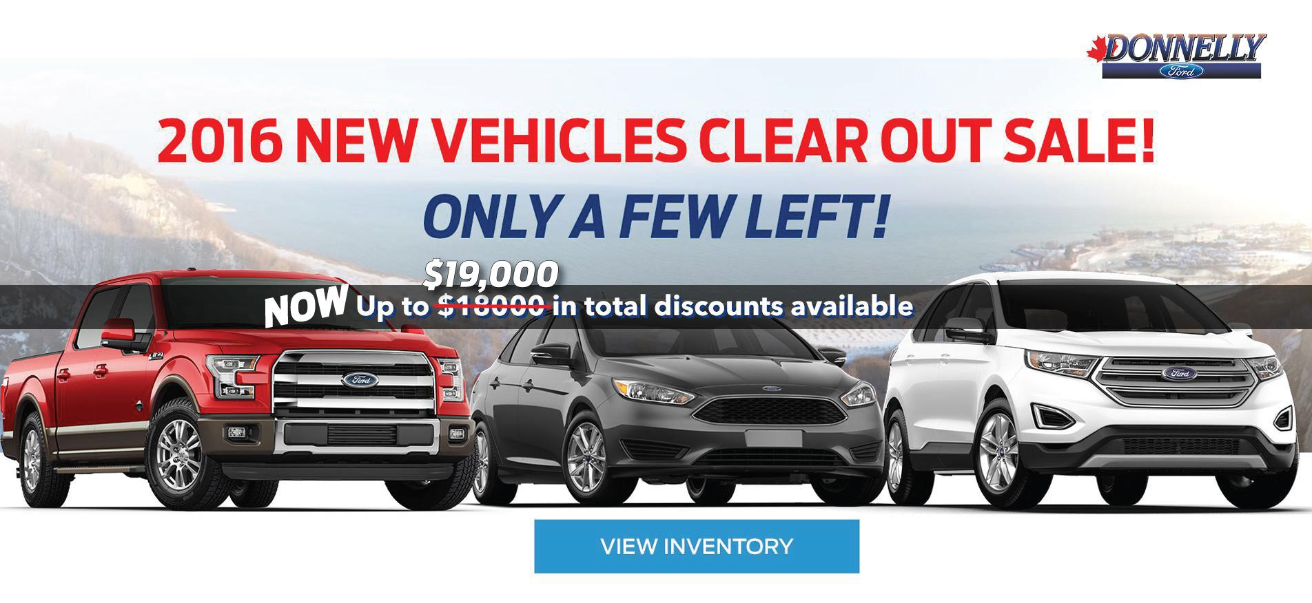 2016 Vehicle Clearout Sale