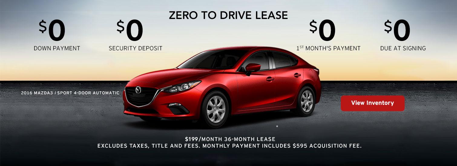 2016 Mazda3 / Sport 4-Door Lease