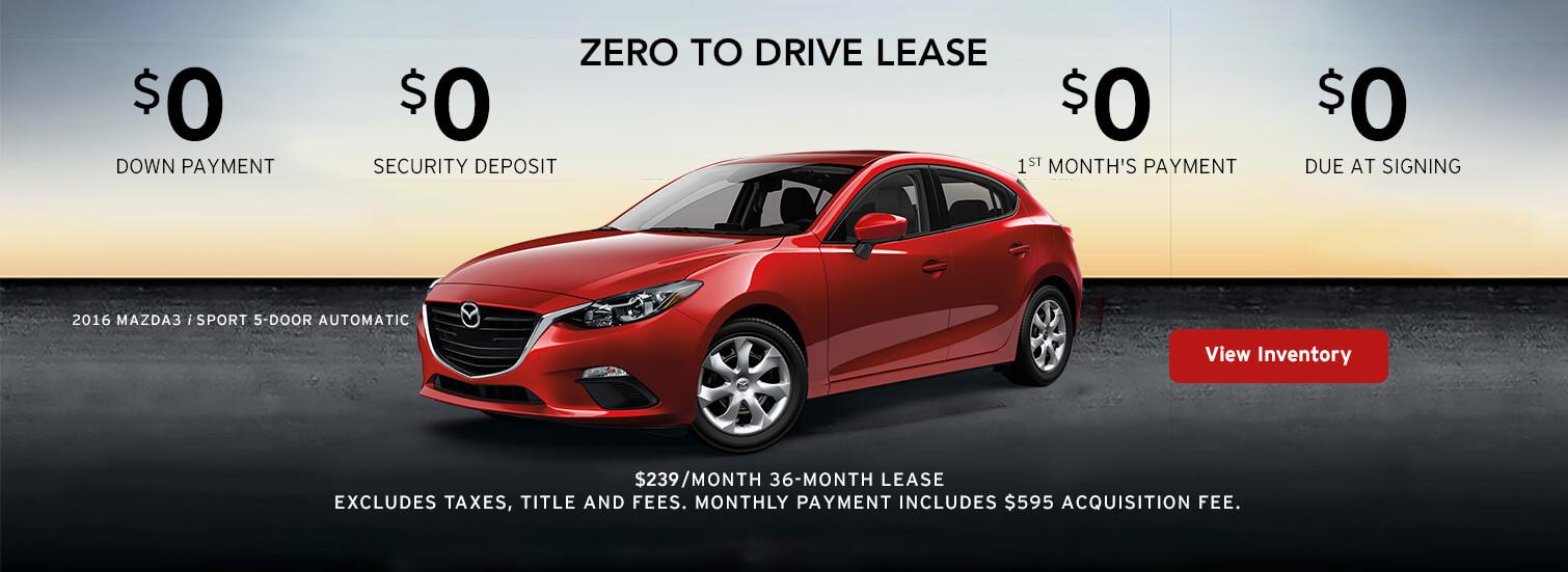 2016 Mazda3 / Sport 5-Door Lease
