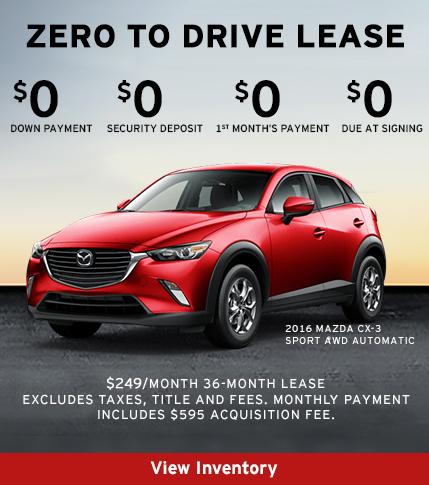 2016 Mazda CX-3 Lease