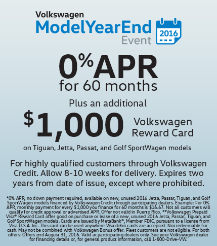 0% APR Volkswagen Reward Card