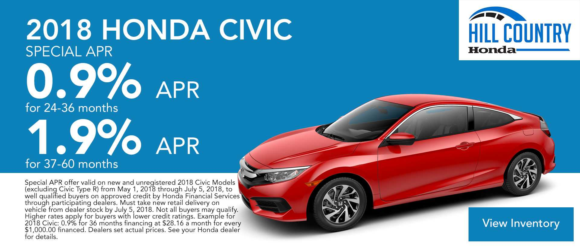 Civic Finance Offers