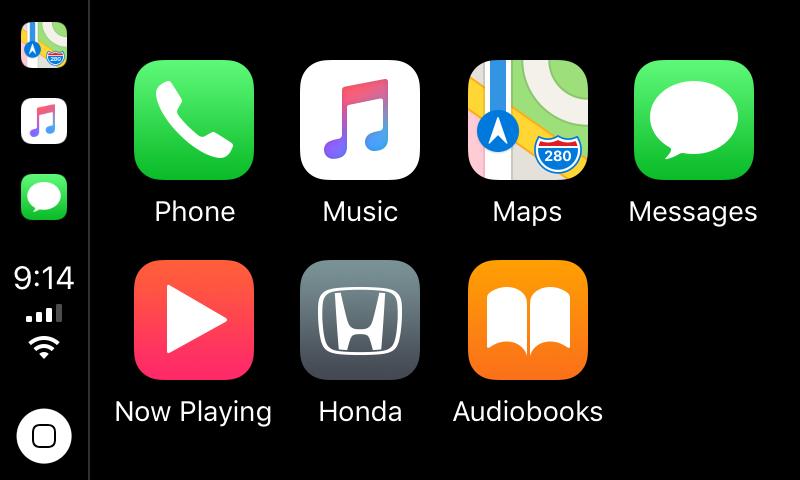 Apple CarPlay in Honda Civic