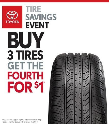 Toyota of Downtown LA Tire Savings Event