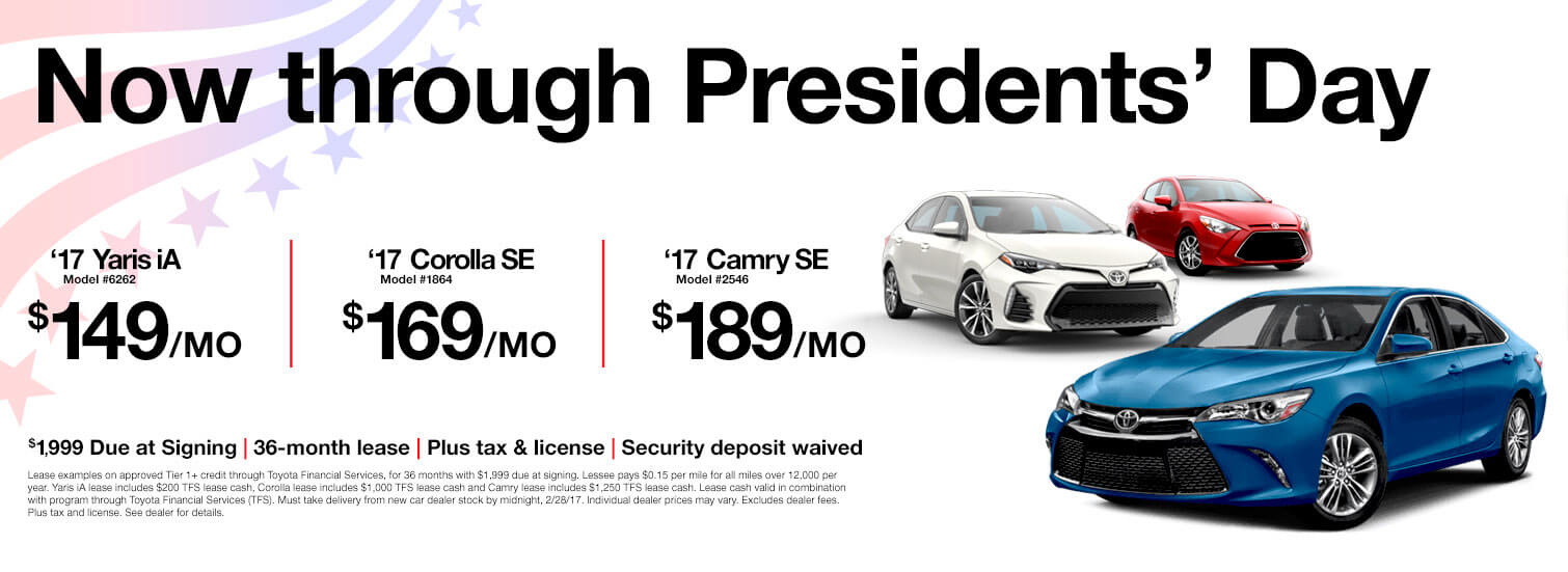 Presidents Day Toyota Specials
