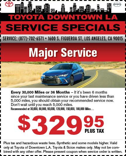 Toyota of Downtown LA Service Special