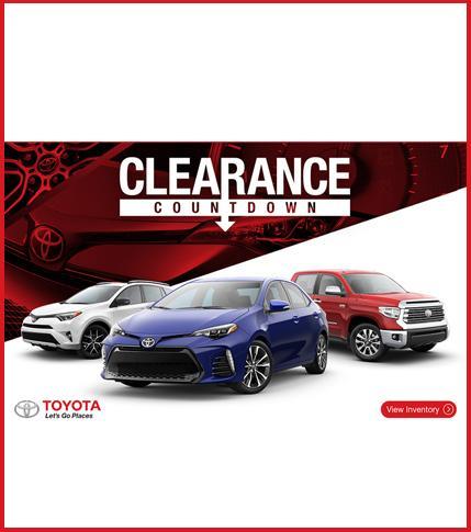 Toyota Clearance Countdown