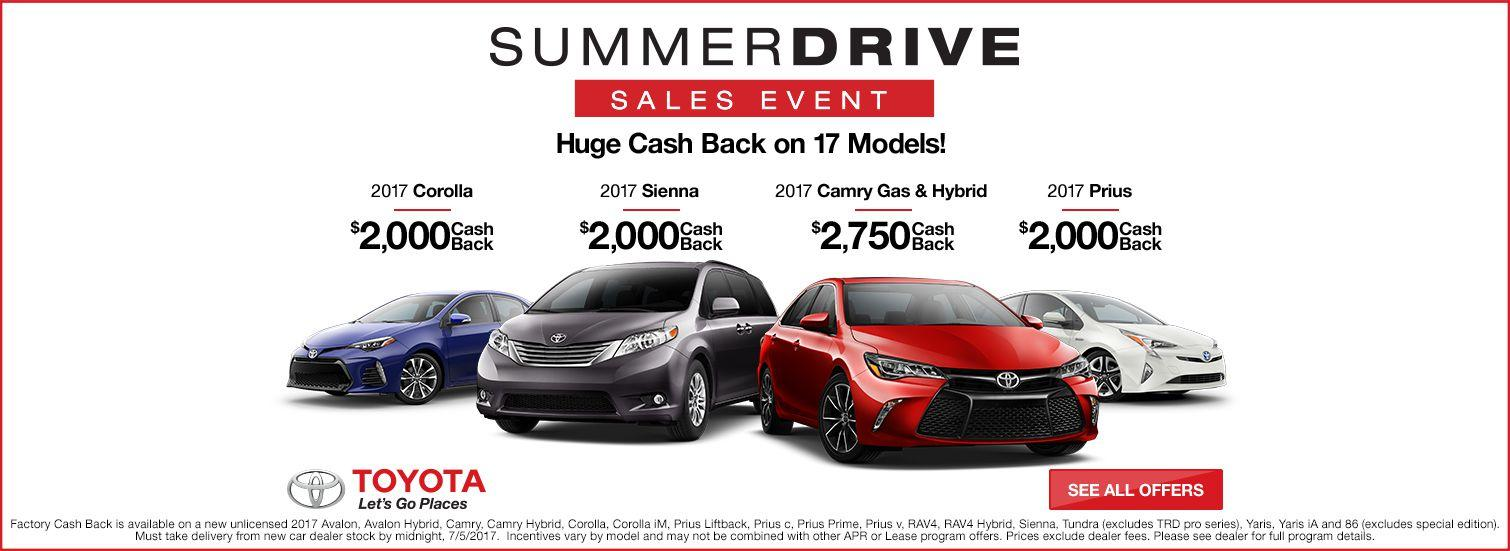 Toyota Summer Drive Sales Event