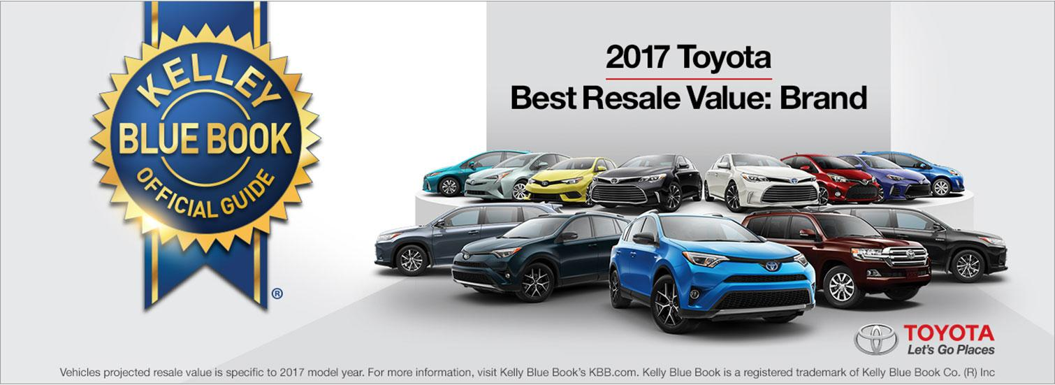 2017 Toyota Best Resale Value for Brand by KBB