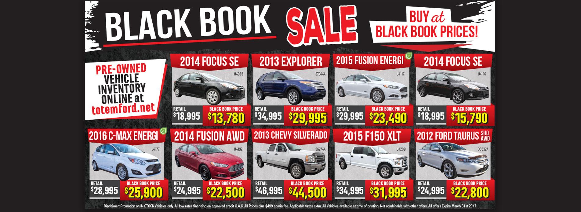 Black Book Sale Flyer
