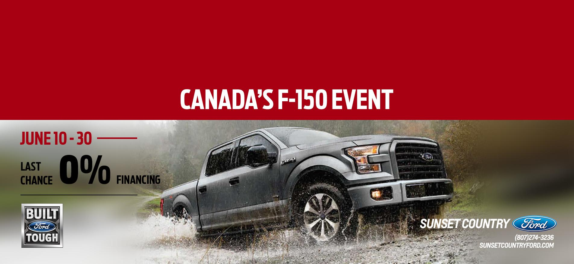 F-150 event 0% Sunset Ford