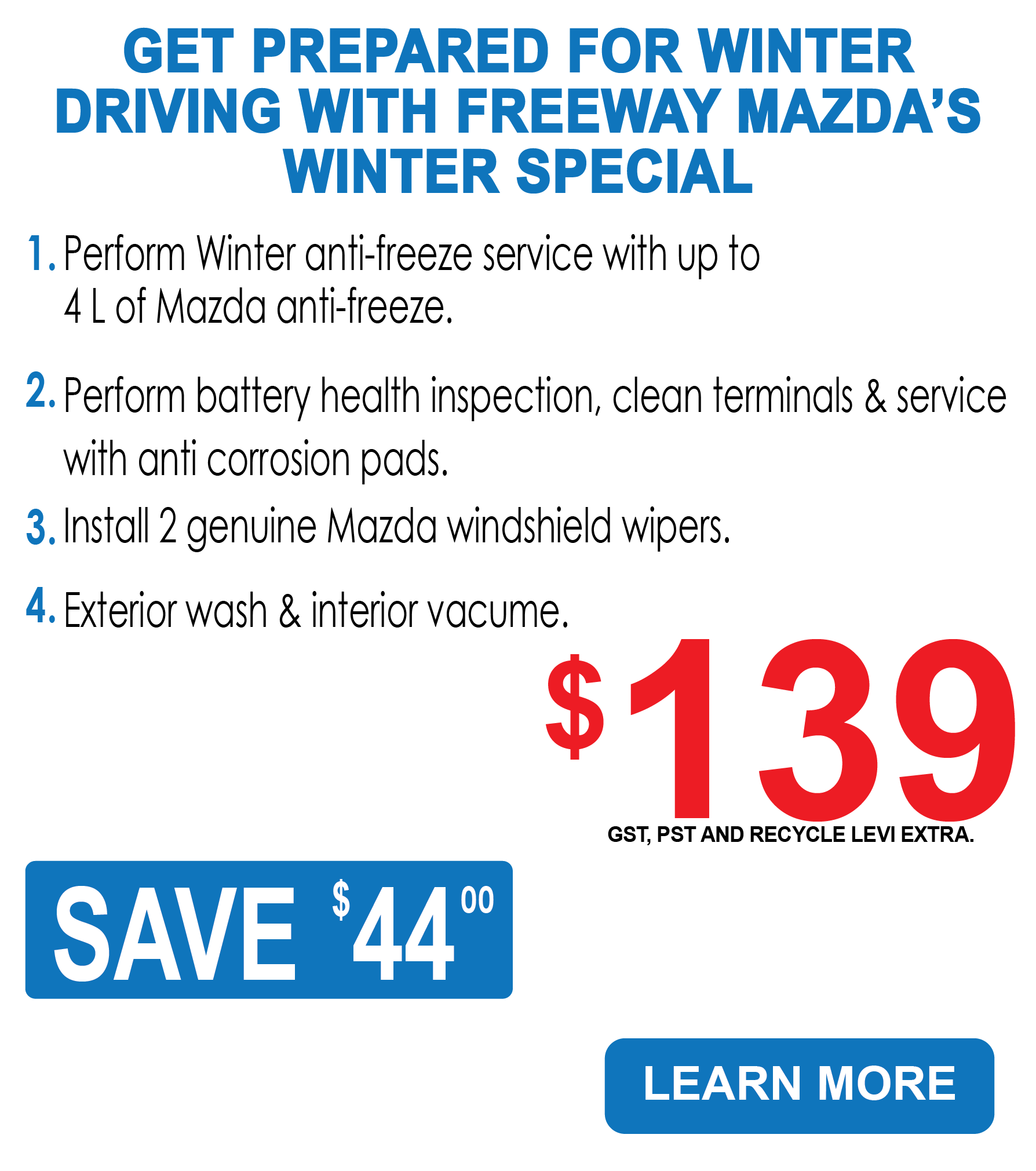 Freeway Mazda - Winter Special