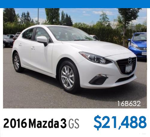 2016 Mazda3 GS - Stock# 16B632