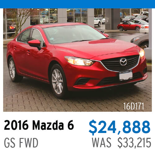 2016 Mazda6 GS FWD - Stock# 16D1721