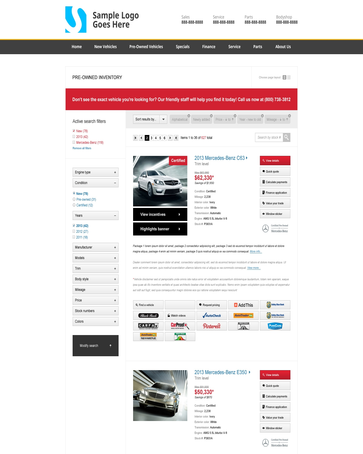 search optics new inventory layout pacific improves user interface