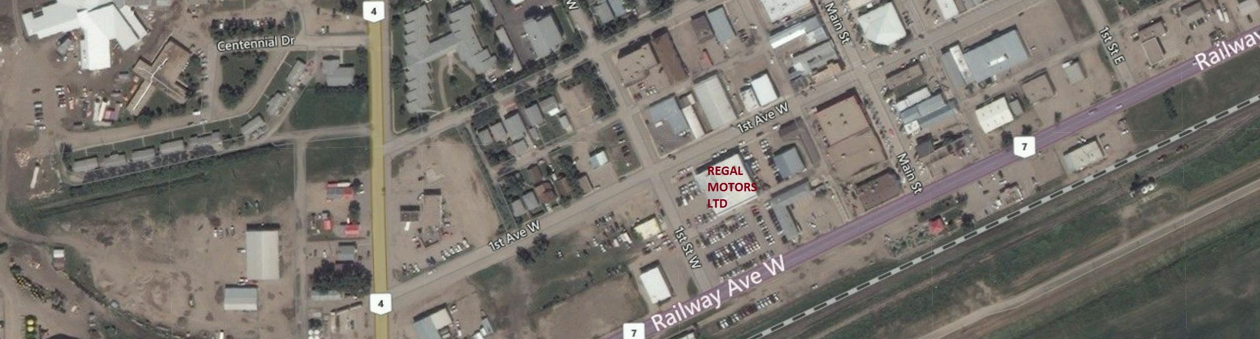 Google Map Directions to Regal Motors in Rosetown SK