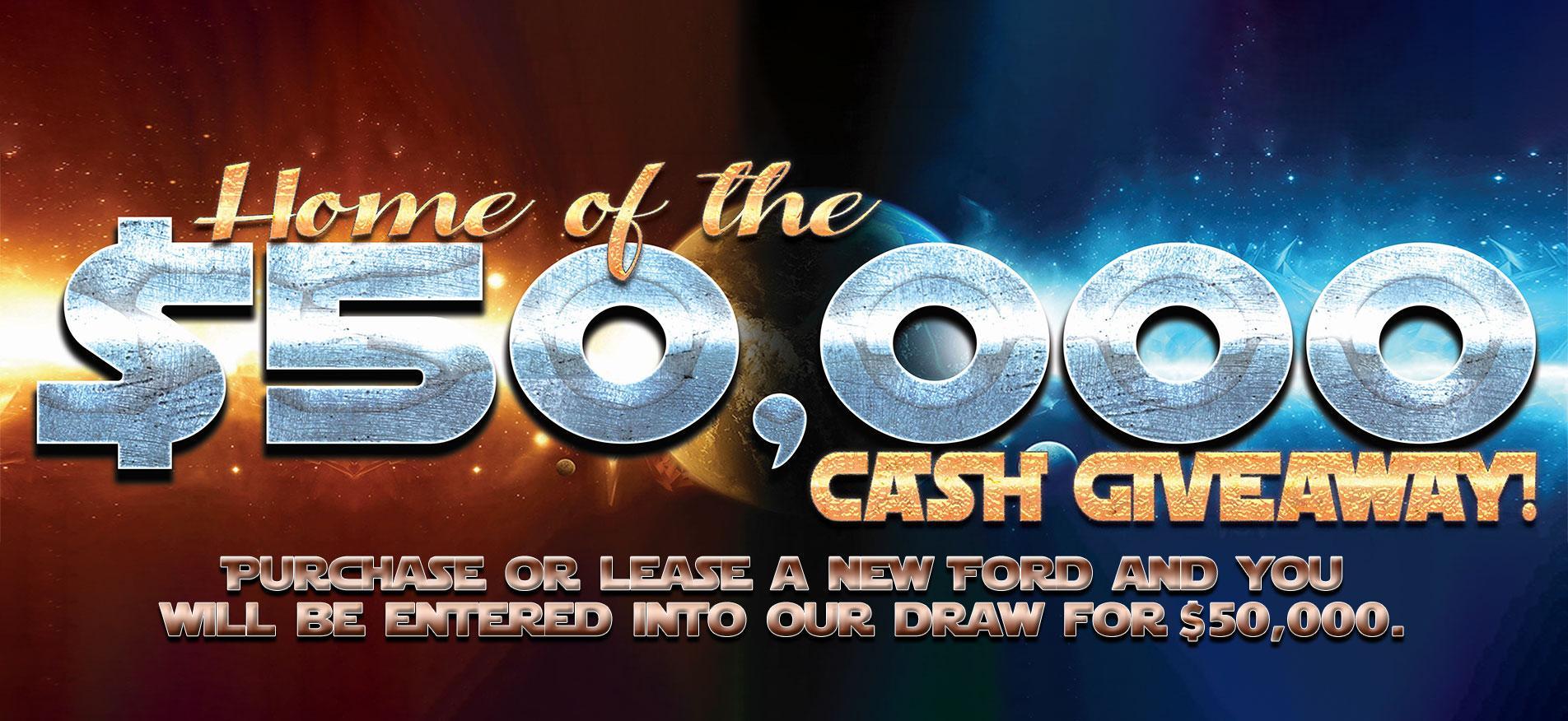 Cash Giveaway $50,000