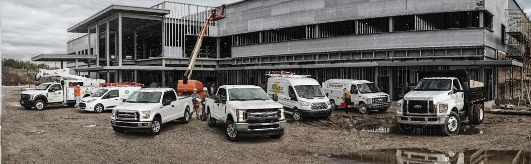 Commercial vehicles at Zender Ford