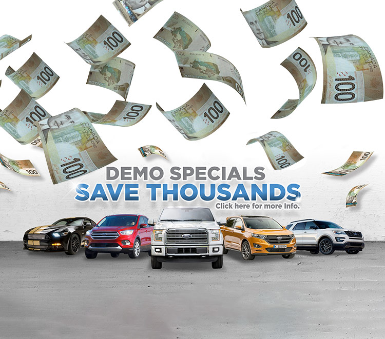 Demo Specials at Zender Ford!