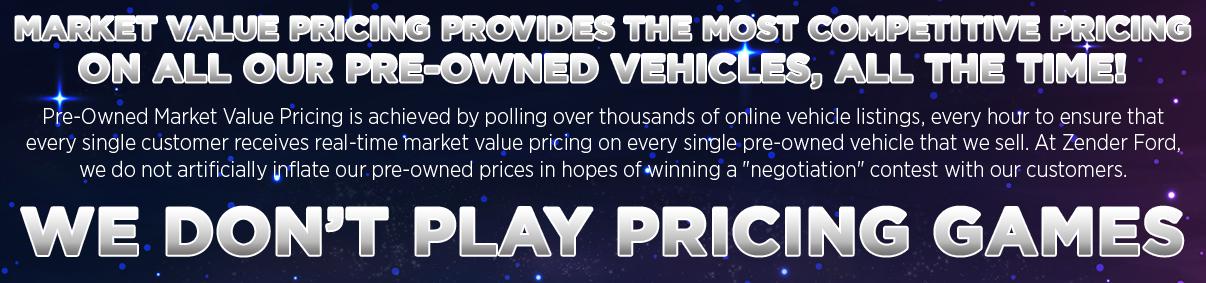 Market Value Pricing at Zender Ford