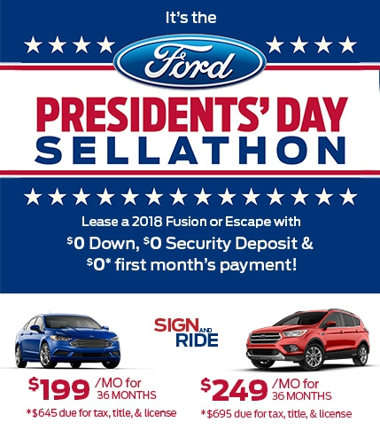 Sign and Ride Presidents' Day Sellathon Offer