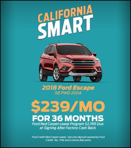 2018 Ford Escape Lease Special