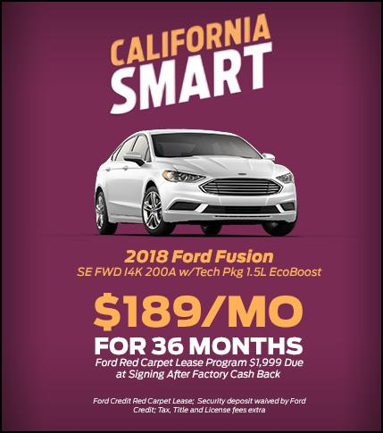 2018 Ford Fusion Lease