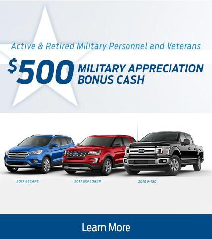 $500 Military Appreciation Bonus Cash