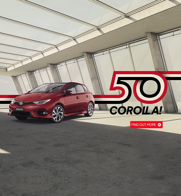 Corolla 50 Years Web Banner