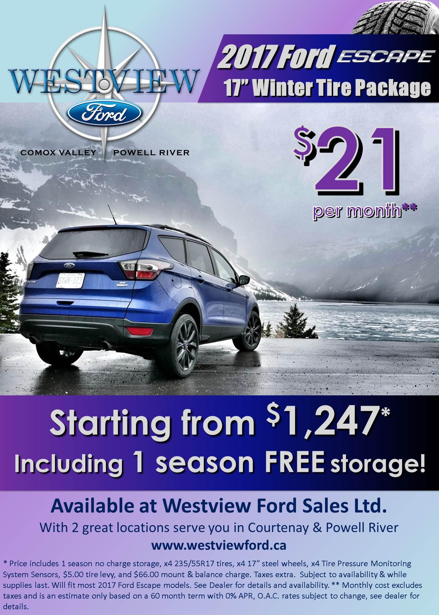 2017 Escape Winter Safety Package - Westview Ford