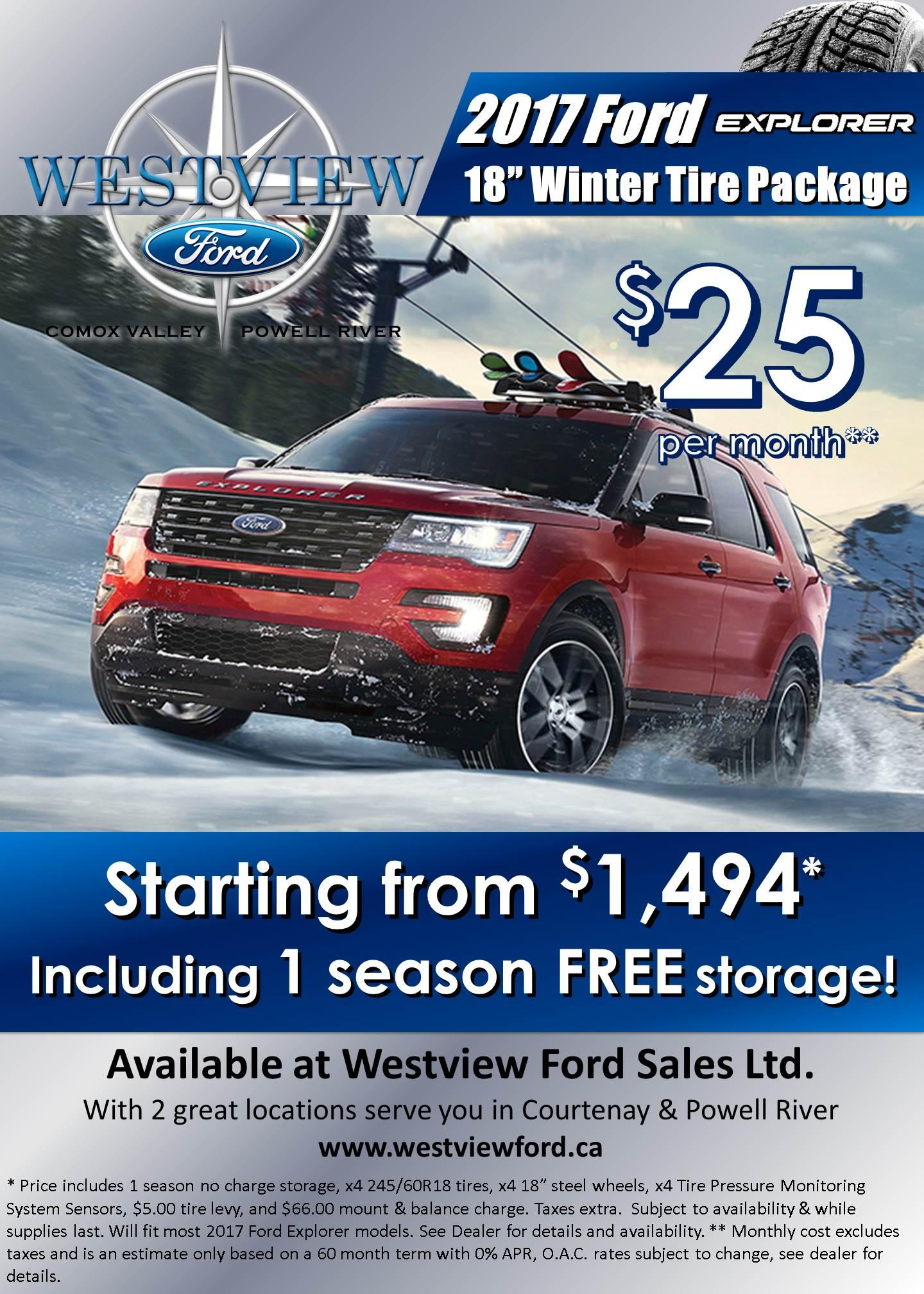 Ford Explorer Winter Safety Packages