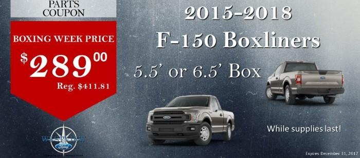 2015-2018 F-150 Boxliners 5.5' or 6.5' Box $289 Boxing Week Price
