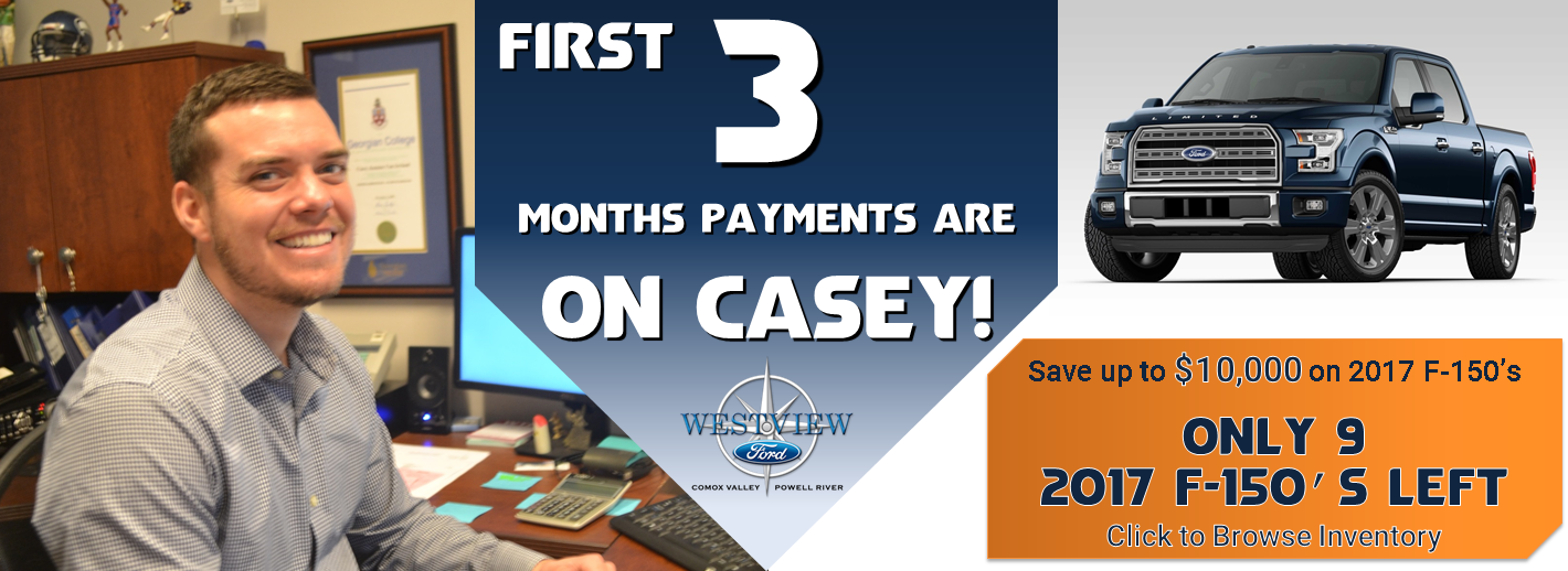1st 3 Months Payments are on Casey
