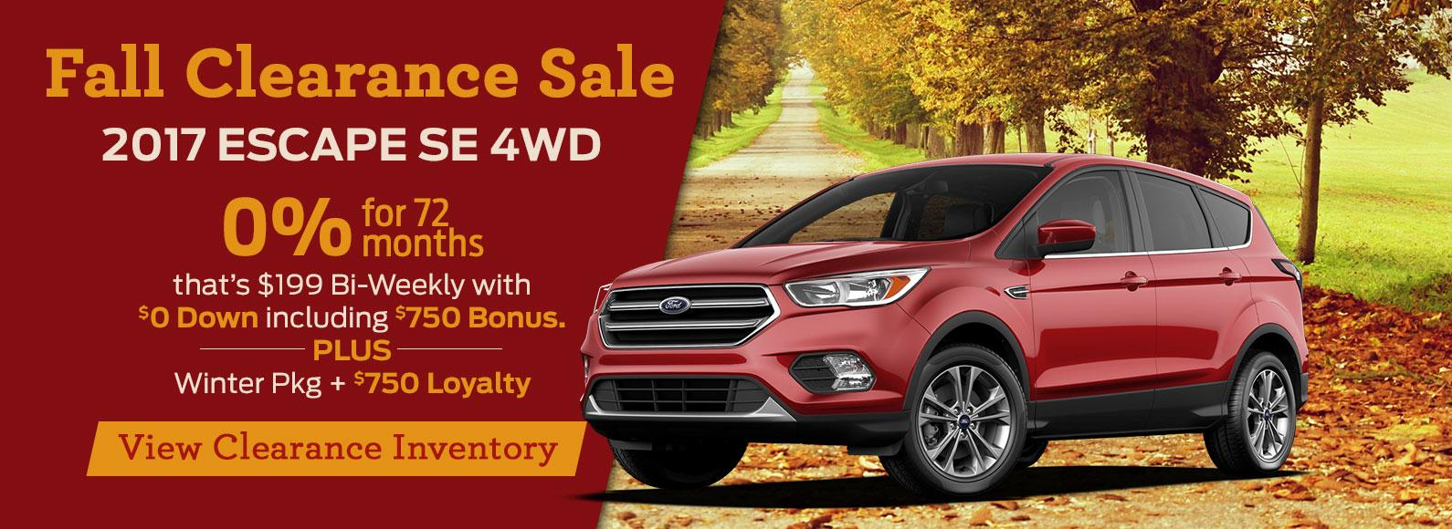 2017 Escape Clearance Westview Ford